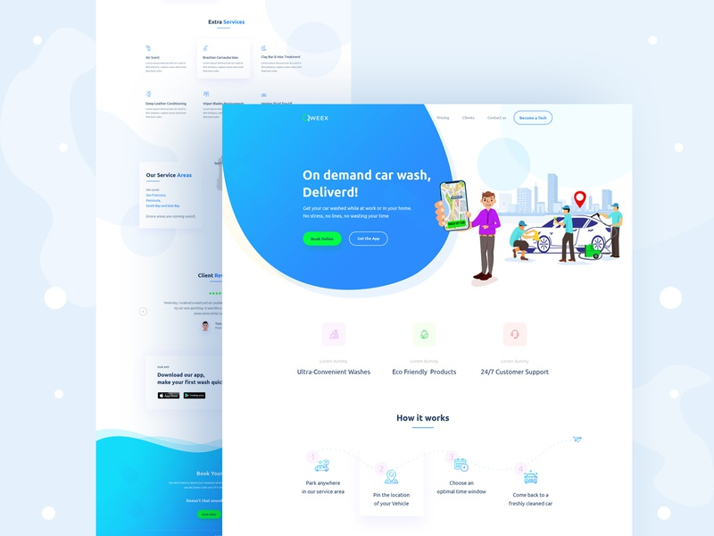 Creative Homepage Design for Qweex qweex agency branding business gradiant colorful website web design web visual design ui trendy design minimal landingpage landing homepage creative app landing page app design app agency