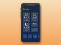 Smart Home App- Bedroom Screnn