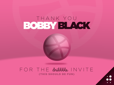 Dribbble Thank You thank you invite debut