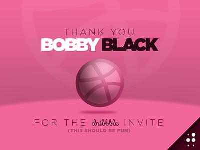 Dribbble Thank You thank you invite debut