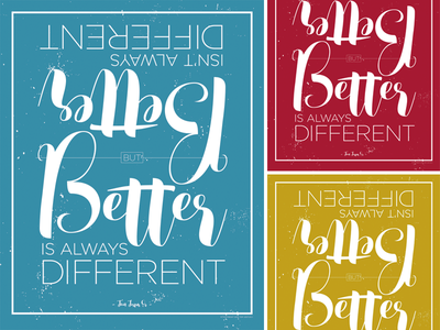 Different Poster v1 colors poster