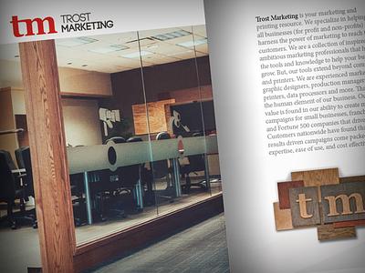 Trost Brochure marketing layout photography brochure
