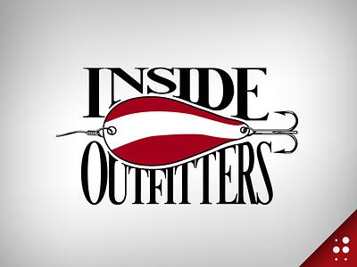 Inside Outfitters Logo custom type throwback logo