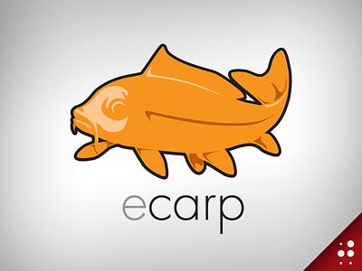 Ecarp Logo fish illustration logo