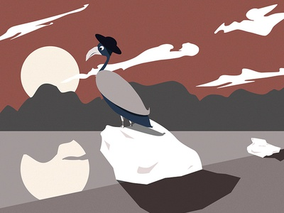 Mr. Bird vector art nature affinitydesigner beginner firststeps elegant bird illustration