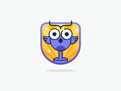 Coder's owl gratulations bird owl character success message flash