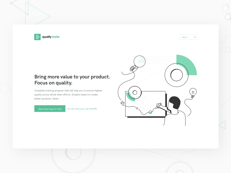 Landing Quality Faster landing illustration quality ideas landing page product design team work