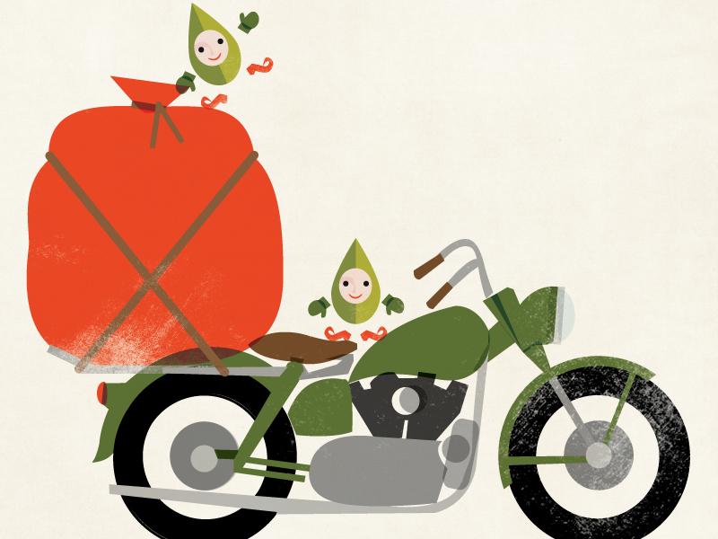 Santa's Hog santa illustration harley motorcycle holiday sportster