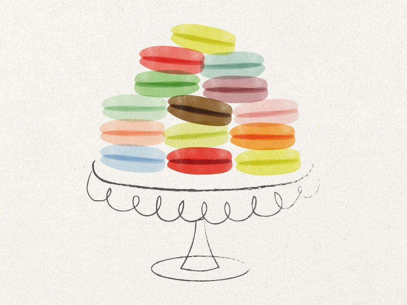 Les Macarons les macarons macarons illustration french pastry amy sullivan illustration pastry french little bakery cookbook