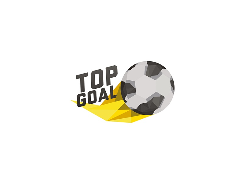 Top Goal video game branding soccer design logo