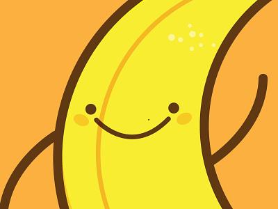 Banana happy illustration platano banana