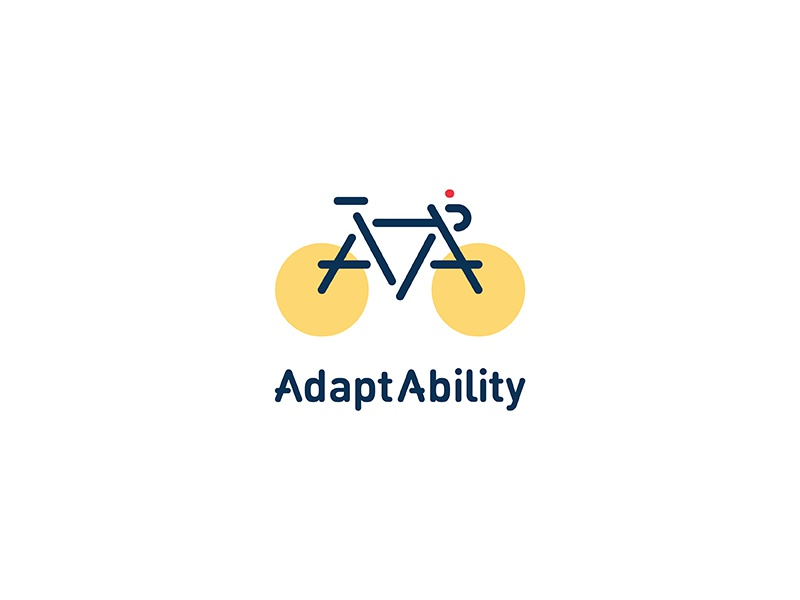 AdaptAbility brooklyn cycling non profit organization branding bicycle logotype