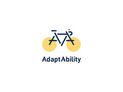 AdaptAbility brooklyn cycling non profit organization branding bicycle logotype