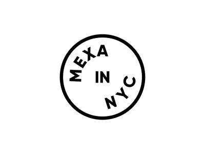 Mexa In NYC blog new york brand logo logotype