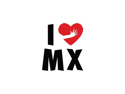 I Love Mexico branding logo sismo mexico heathquake mexico love