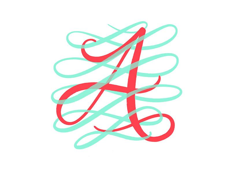A brushpen. letter a a procreate lettering