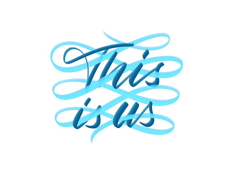 This Is Us brushpen procreate lettering procreate app lettering