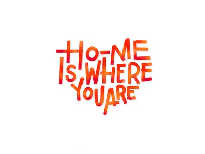 Home Is Where You Are brushpen. procreate lettering procreate app lettering