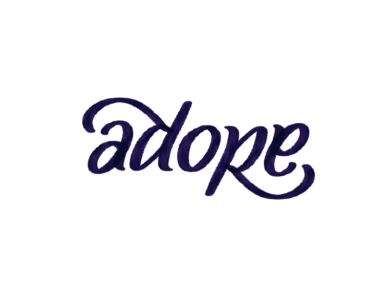 Adore ambigram procreate app ambigram brush lettering lettering adore