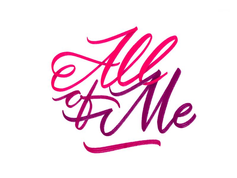All of me procreate app brush pen lettering all of me