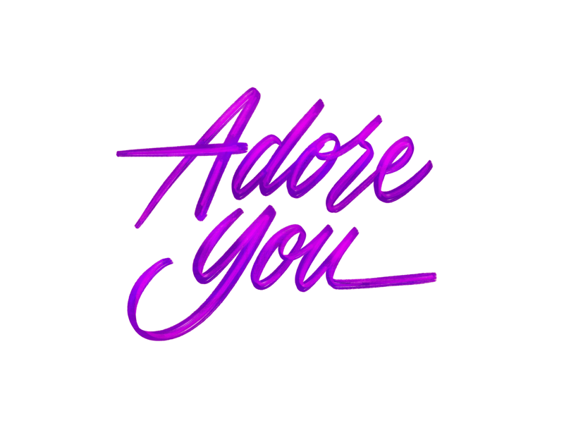 Adore you procreate procreate app lettering adore you adore