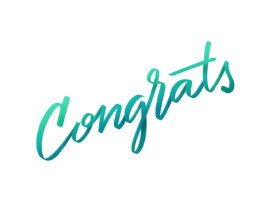 Congrats graduation procreate lettering shillington