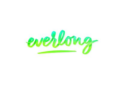 Everlong digital lettering procreate app brushpen foo fighters lettering everlong