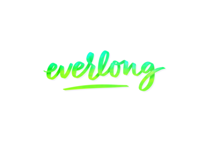 Everlong digital lettering procreate app brushpen foo fighters lettering everlong