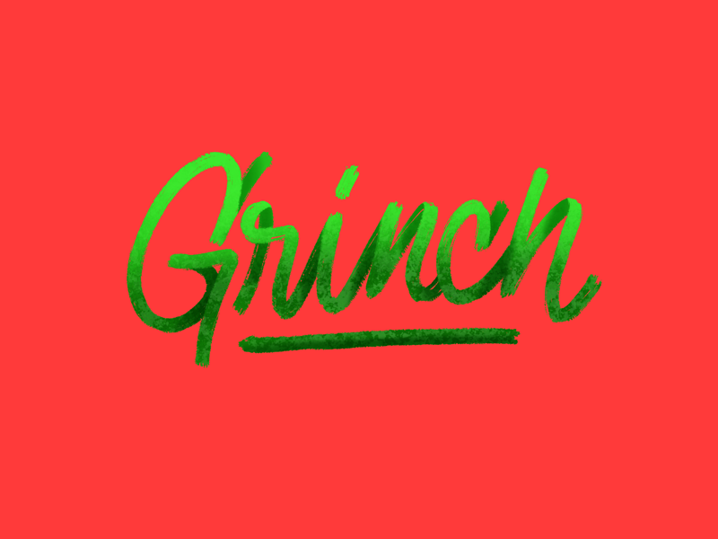 Grinch procreate brushes lettering holidays christmas grinch