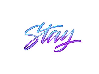 Stay brushes gradient procreate app digital lettering brush pen lettering stay