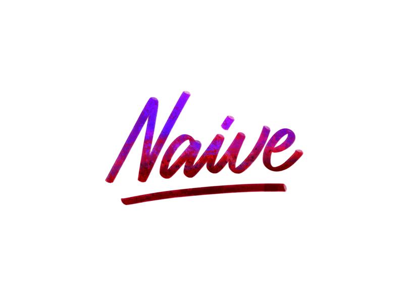 Naive procreate app digital lettering brush lettering