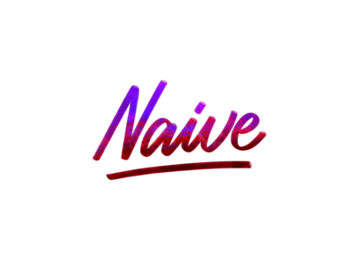 Naive procreate app digital lettering brush lettering