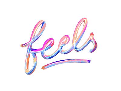 Feels logotype logo digital lettering procreate design lettering feels