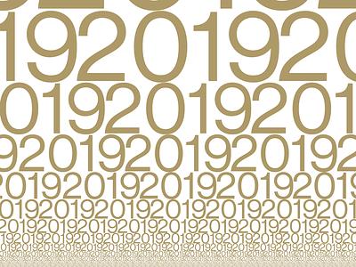Happy 2019 type design 2019