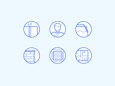 Building Line Icons graphic design vector line art icons design icons set