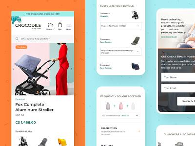 Crocodile Baby Customizable Stroller uiux baby stroller kids ui design interface