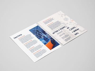 Case Study Side 2 casestudy case study sell sheet marketing industrial design heavy equipment forklift industrial graphic layout design branding graphic design design photoshop