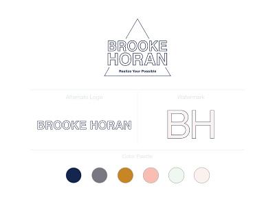 Brooke Horan Branding vector logo design branding logo design concept logo designs logotype logo logo designer consulting logo logo design branding typography design illustration photoshop