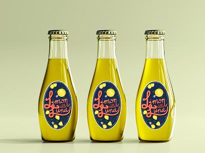 Limon della Luna lemon limon label packaging branding design illustration