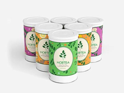 Mortea Tea Cannister packaging mockup packagedesign packagingpro packaging design tea cannister package packaging vector graphic layout design design illustrator graphic design illustration photoshop