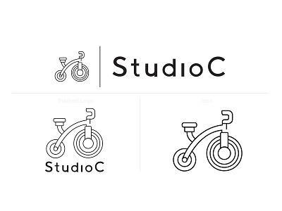 Studio C Logo graphic branding illustrator graphic design design illustration logo designs logodesign cycle studio studio cycle cycling logo design logo