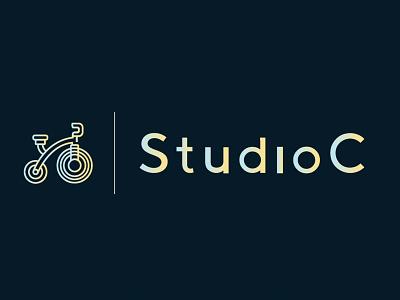 Studio C Logo Icon fitness club fitness logo cycle studio cycling fitness graphic icon vector logo branding illustrator graphic design design photoshop illustration