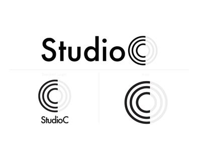 Studio C Logo Option wellness logo minimal wellness fitness studio fitness logo cycle studio cycling logo design logo graphic typography branding illustrator graphic design design photoshop illustration