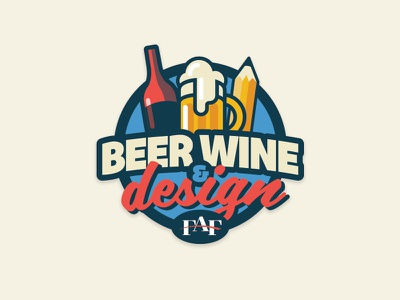 Fresno Ad Fed -  Beer Wine Design Logo fresno networking marketing social event logo design logo branding beer wine design fresno ad fed