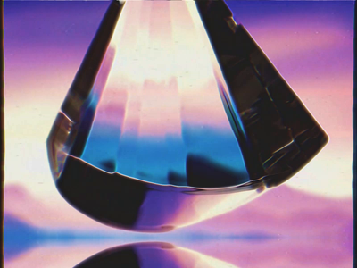 Prism refraction glass
