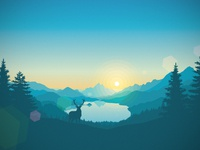 Lakeside sunrise 1920x1080