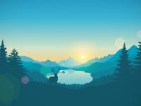 Lakeside sunrise 3840x2160