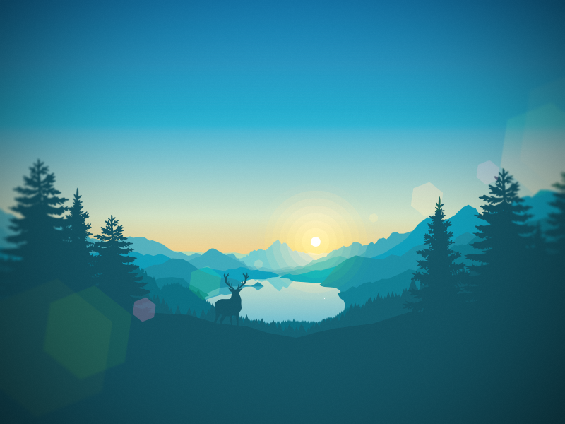 Lakeside Sunrise landscape gradient svg