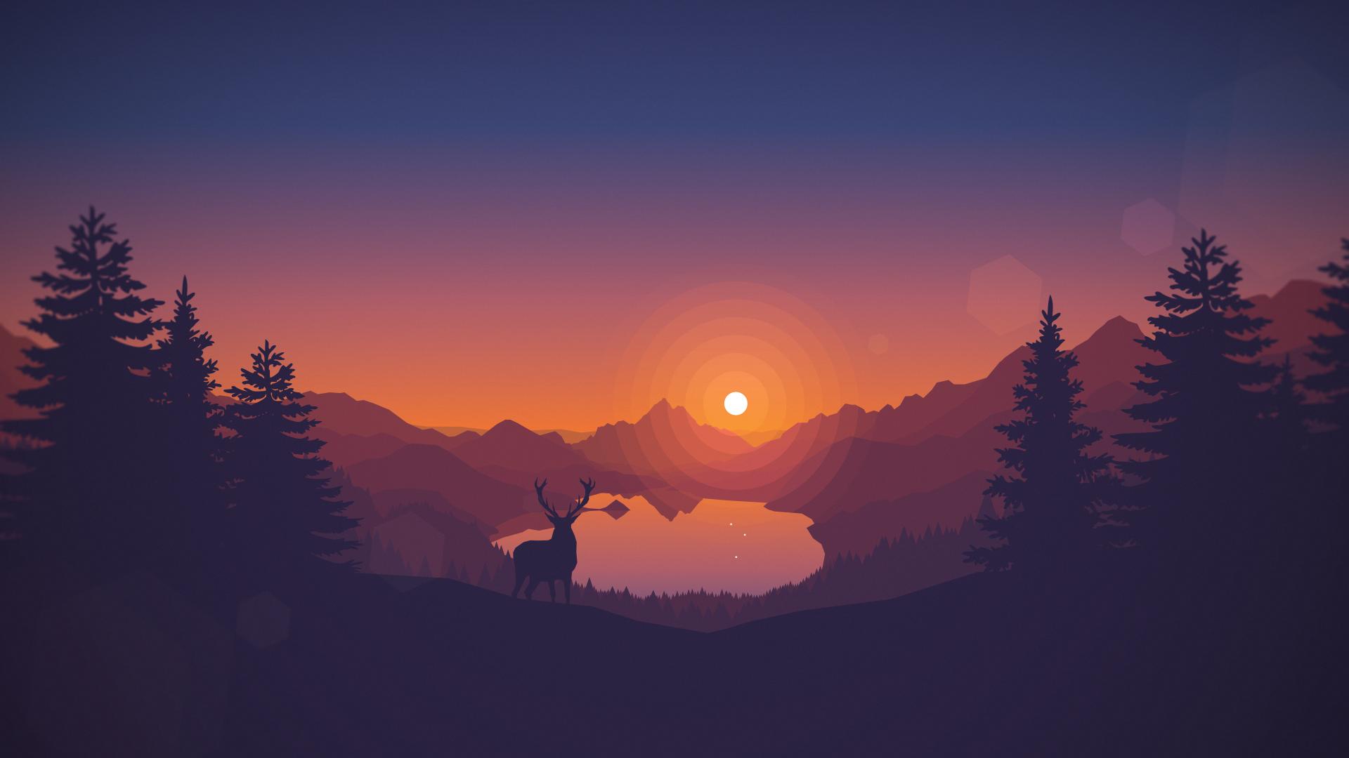 dribbble - lakeside_sunset_1920x1080louis coyle