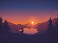 Lakeside sunset 1920x1080